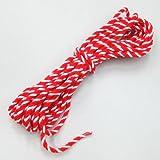 紅白ロープ 太さ6mm 長さ20m