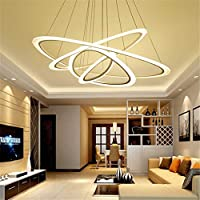 LED シャンデリアランプ色温度調節可能なペンダント吊りライトコンテンポラリーリビングルームダイニングルーム,C