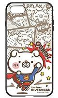 [IPHONE7] ケース 背面強化ガラス ハイブリッドケース かわいい キャラクター ライン LINEスタンプクリエイター みーすけ いつでも、いぬ田さん。 コラボ デザイン アニマル イヌ 犬 おしゃれ グッズ 3108-D. スーパー・いぬ田さん。 アイフォン7 カバー TPUバンパー 衝撃吸収 9H硬度 スマホカバー スマホケース スマートフォン