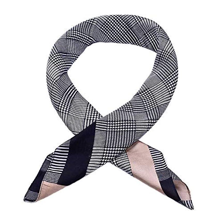 重なる要求寓話スカーフ ワイルド 正方形 千鳥格子 仕事中 四季通用 スカーフ エレガント シルキー シルクサテン 優しい肌触り 多機能 ストリート 女性 70 * 70cm