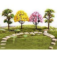 YEDREAM 8 Pcs Model Trees, Diorama Models, Model Train Scenery, Architecture Trees, Miniature Landscape DIY Craft Garden Ornament