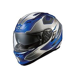 オージーケーカブト(OGK KABUTO) バイクヘルメット フルフェイス KAMUI2 STINGER (スティンガー) ブルーホワイト (サイズ:L)