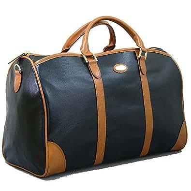 高コストパフォーマンス水や汚れに強いボストンバッグ 鞄の聖地兵庫県豊岡市製 国産 日本製合皮ボストンバッグ ブラック (1361-01,)