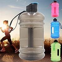 1ピースbpaボトル2.2lビッグスポーツジムトレーニングドリンクウォーターボトル大容量ケトル用屋外ピクニック自転車水差し-ピンク