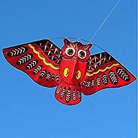 レッドOwl Kite withハンドルラインアウトドアおもちゃカラフルな鳥Flagshipストア、WeifangシミュレーションBat Little Devil