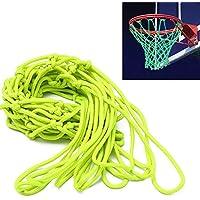 グローin theダークBasketball Net – アウトドアNet andバスケットボールフープアクセサリー、外側標準規定サイズのバスケットボールリム、キッズバックボードとリム