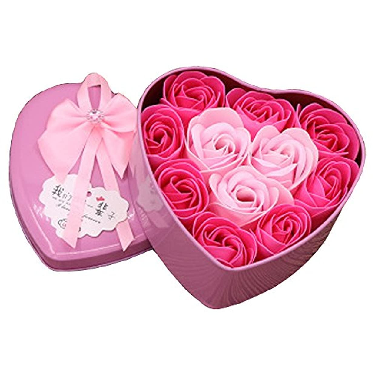 iCoole ソープフラワー 石鹸花 ハードフラワー形状 ギフトボックス入り 母の日 バレンタインデー お誕生日 ギフト