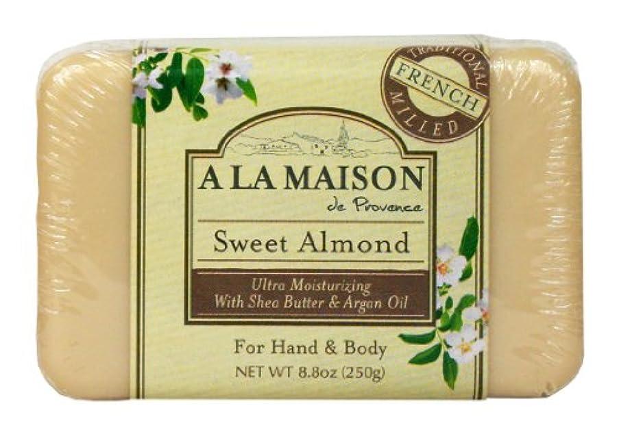 意味男らしさマグBar Soap Sweet Almond - 8.8 oz by A La Maison