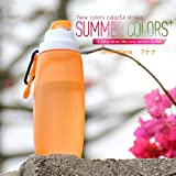 折り畳み水筒折り畳み式ボトル,アウトドアボトル,スポーツボトル (オレンジ)