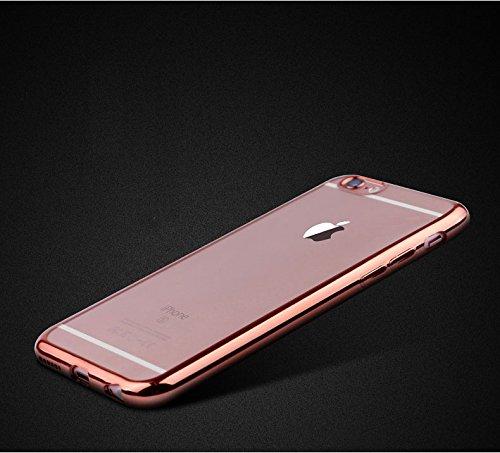 『Rovski iPhone6s Plus ケース iPhone6 Plus ケース 弧状設計 脱着簡単 超薄型耐衝撃 保護キャップ 一体型 ソフト TPU ケース(ローズゴールド)』の8枚目の画像