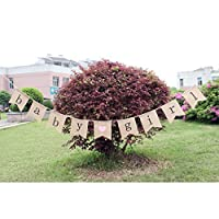 Baby Girl Hessian Burlap Banner for Baby Shower Party Decorations [並行輸入品]