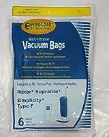 6 Envirocare Vacuum Bags to fit Riccar Type F [並行輸入品]