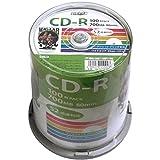 HI-DISC データ用CD-R HDCR80GP100 (700MB/52倍速/100枚)
