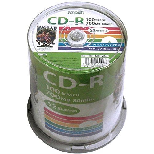 HI-DISC データ用CD-R HDCR80GP100 (...