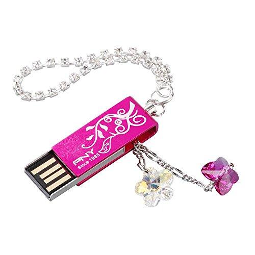 PNY USBメモリ スワロフスキークリスタル ピンク LO...