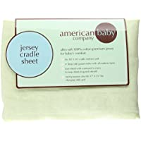 Supreme Jersey Cradle Sheet Color: Celery by American Baby Company