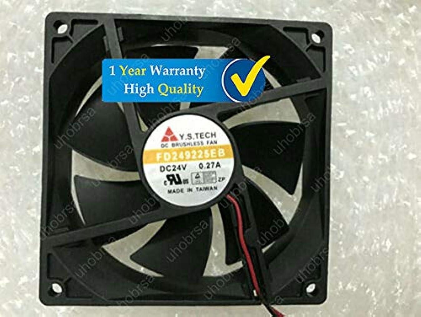 方法ラッドヤードキップリング授業料UHOBRSA 互換性があります Y.S.TECH FD249225EB DC24V 0.27A 90*90*25MM 9CM 2Pin 冷却ファン と