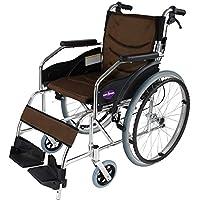 自走用車椅子 チャップススリム ラバンバ ブラウン 軽量 折りたたみ式 ノーパンクタイヤ G101-BRN (ブラウン) カドクラ