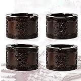 レッドウッドクラフトエボニーのオフィス灰皿クリエイティブパーソナリティ木製のヴィンテージ灰皿大きな彫刻のすべての側面プラムの花蘭バンブーキク (色 : Black rosewood)