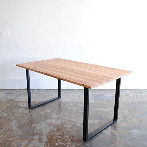 ダイニングテーブル 杉無垢材 アイアン