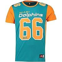 マジェスティック (Majestic) NFL メッシュ ポリエステル ジャージー ティーシャツ - マイアミドルフィンズ (Miami Dolphins)