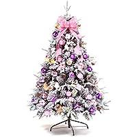 クリスマスツリーセット ホワイトツリー ピンク 松かさ付き オーナメントセット 雪 結晶 北欧 180cm 150cm 120cm 粉雪 デザインツリー おしゃれ 可愛い 贅沢 高級クリスマスツリー 組立簡単 置物 インテリア クリスマス飾り (150cm)