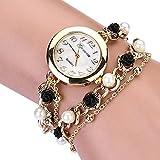 Geneva レディース 腕時計 ロース 真珠 ブレスレットタイプ ウォッチ