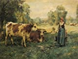 Julien Dupre A Milk Maid羊や牛with 96x72