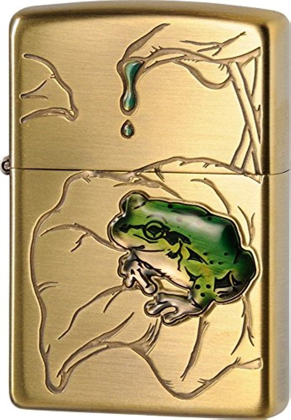 クラブ批判的選出するZIPPO(ジッポー) ライター 蛙 真鍮古美?63430298
