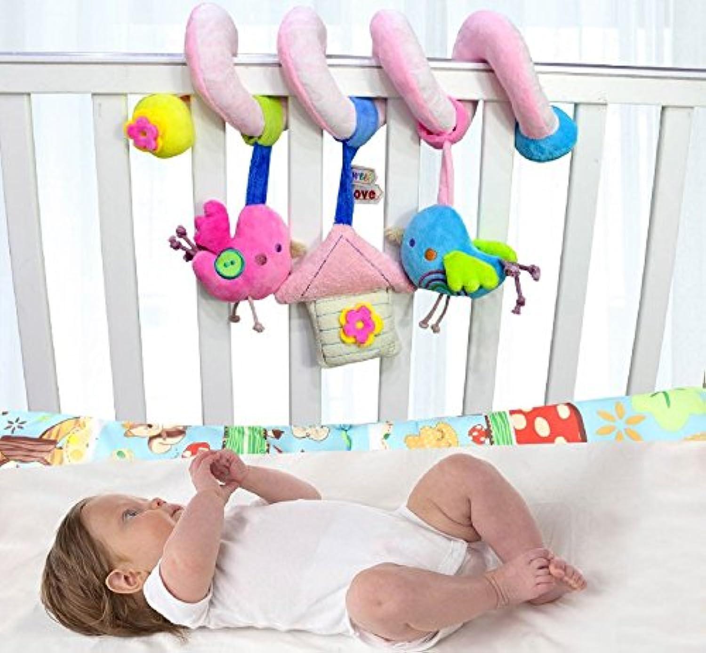 エレガントで美しいベビー ミュージカルベッド 吊り下げ玩具 子供用 動物 ぬいぐるみ ベビーベッドの周りに巻き付けるおもちゃ レール ベビーカー バー アクティビティトイ LXY-20180808-WJa294