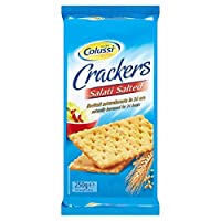 塩漬けクラッカーの250グラム (Colussi) (x 6) - Colussi Salted Crackers 250g (Pack of 6)
