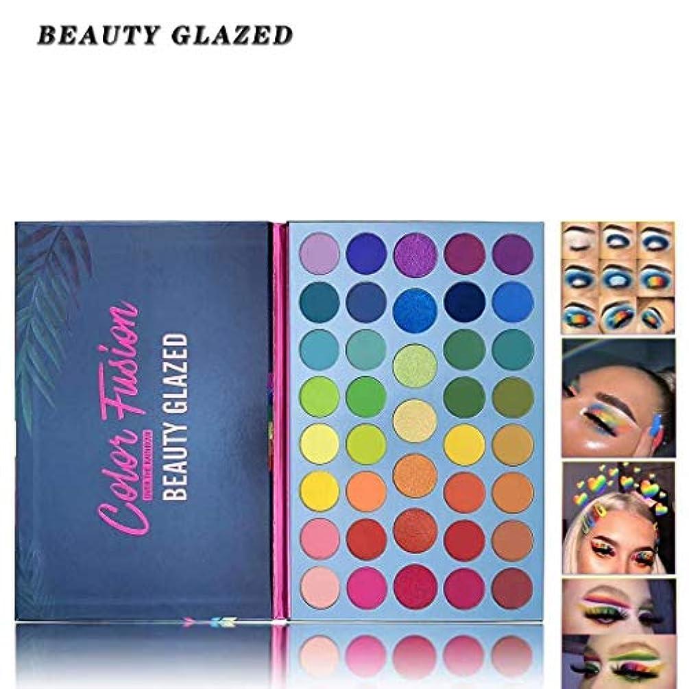 Beauty Glazed 39ポップカラーズマットシマーアイシャドウパレットハイライト着色されたカラフルな長持ちする防水メイクアップパレット化粧品メタリックカラーナチュラルブレンドメイクアップアイシャドウパウダー