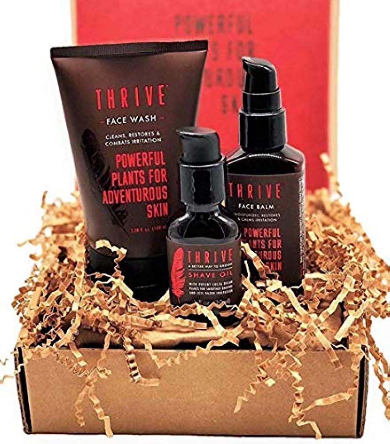 確かなはねかける西部Thrive Natural Men's Growing Kit – 毎日3ピースのグルーミングギフトセット,オーガニック&ユニークなプレミアム天然成分を使った米国製男性用ギフトセット,Thrive Natural Men's...