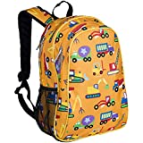 Wildkin 15 Inch Backpack, Extra Durable Backpack with Padded Straps and Interior Moisture-Resistant Lining, Perfect for School or Travel, Olive Kids Design – Under Construction