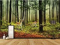 Lcymt カスタム3D公園グリーンロード風光明媚なウォーキングアイルリビングルームの写真の壁紙リビングルームの背景壁画A-200X140Cm