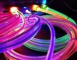 [OHAGI] micro-B マイクロB タイプ microusb マイクロ USB 充電ケーブル 光る LED 充電 ケーブル アンドロイド Android スマホ スマートフォン タブレット WiFi 端末 その他 モバイル 機器 対応 充電器 (2色セット:ブルー×レッド)