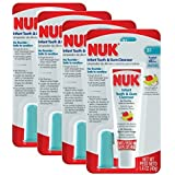 NUK Infant Tooth and Gum Cleanser and Finger Toothbrush Set, 1.4 Ounce - 4 Count by NUK [並行輸入品]