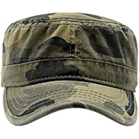 Krisphily Washed Cotton Military Hat