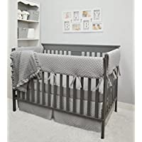 American Baby Company Heavenly Soft 6 Piece Crib Bedding Set, Grey [並行輸入品]