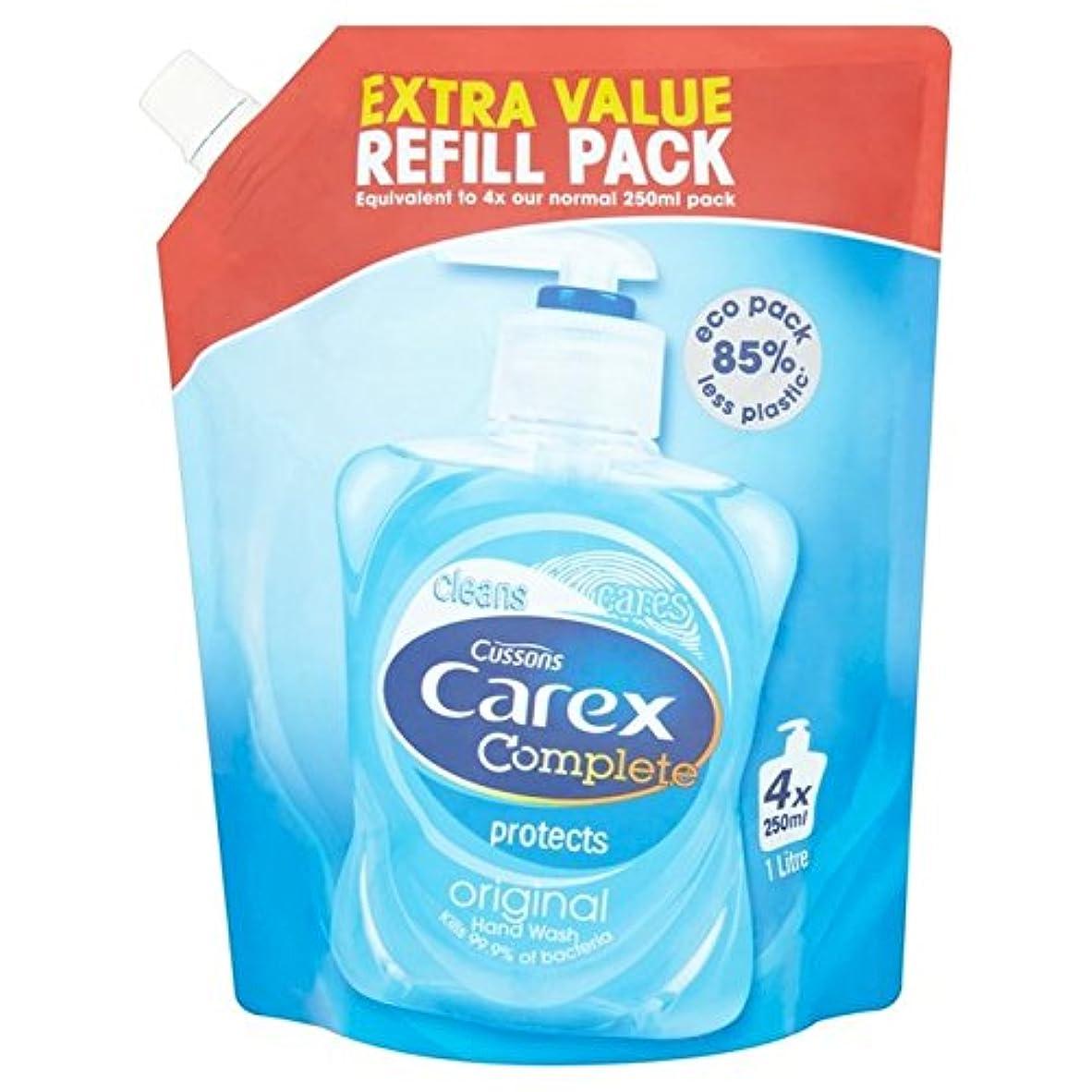 準備した廃棄生き残りスゲオリジナルリフィルパック1リットル x2 - Carex Original Refill Pack 1L (Pack of 2) [並行輸入品]
