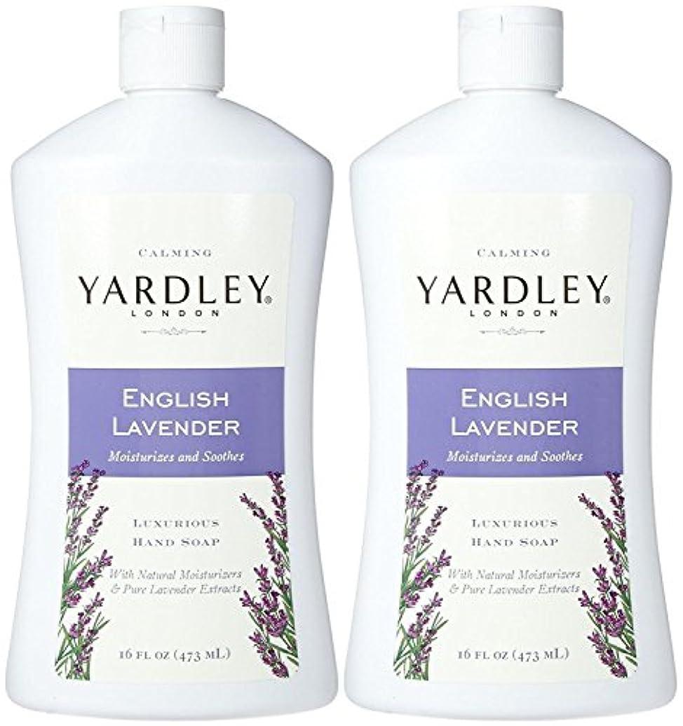 耐えられる硬いおなじみのYardley London Liquid Hand Soap - English Lavender - 16 oz - 2 pk by Yardley London [並行輸入品]