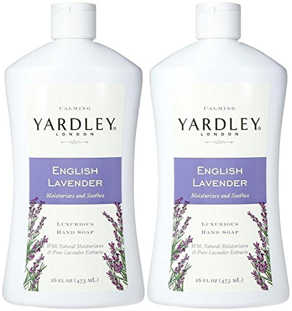 ピン出発する熱帯のYardley London Liquid Hand Soap - English Lavender - 16 oz - 2 pk by Yardley London [並行輸入品]