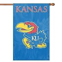 パーティー動物スポーツファンNCAA Team Kansas Jayhawksアップリケバナー国旗