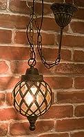 洋風 照明器具 行燈 取り付けは超簡単 インテリア アベニューランプ バルーン ブロンズ