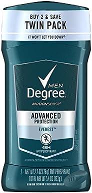 Degree Men Antiperspirant and Deodorant, Everest 2.7 oz, Twin Pack