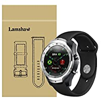 Lamshaw Ticwatch Pro バンド, スポーツ シリコン 交換バンド 柔らか運動型 対応 Ticwatch Pro/TicWatch S2 / TicWatch E2 スマートウォッチ 腕時計 (ブラック)