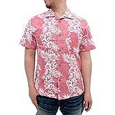 (ルーシャット)ROUSHATTE アロハシャツ 大きいサイズ 綿裏使い 20color 3L レッド