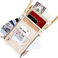 SmartTravel パスポートケース 首下げ スキミング防止 旅行便利グッズ ポーチ (2. オフホワイト ケース)