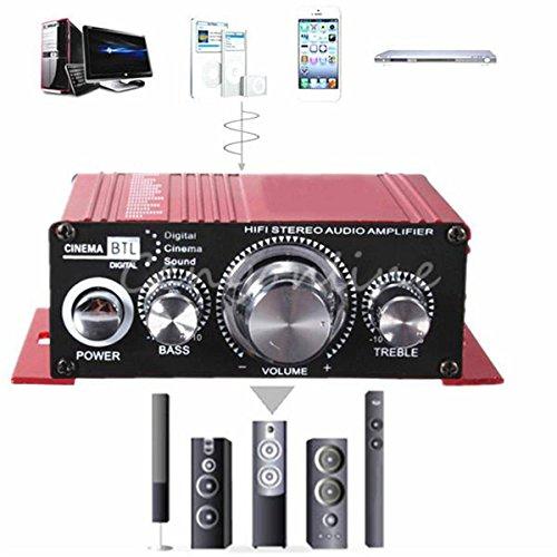 ELEGIANT 12V小型ステレオアンプ デジタルアンプ カー アンプ パワーアンプ 高音質 重低音