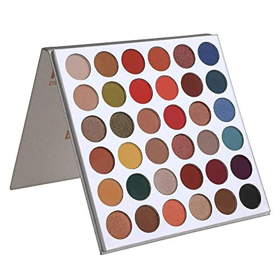 サンダース基本的な良いマットとシマー36色アイシャドウパレットポップカラーブレンダブル メイクアップ パウダー 防水化粧品 光沢効果